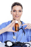 Doctor And Syrup Stock Image