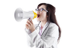 Doctor announcing news Royalty Free Stock Photo
