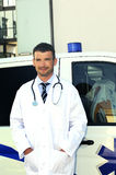 Doctor ans ambulance Royalty Free Stock Images