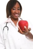 Doctor with Apple Royalty Free Stock Photos