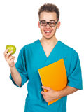 Doctor with an apple Royalty Free Stock Photos