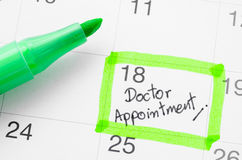 The Doctor appointment. Stock Image
