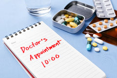 Doctor appointment note Royalty Free Stock Photo