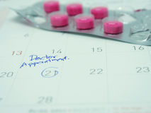 Doctor appointment remainder Stock Image