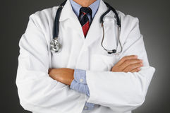 Doctor With Arms Folded Royalty Free Stock Images