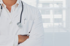 Doctor with arms folded Royalty Free Stock Photography
