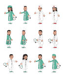 Doctor artoon character Stock Images