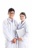 Doctor and assistant Royalty Free Stock Image