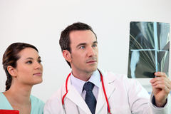 Doctor and assistant Stock Photo