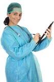 Doctor atractivo de la señora fotografía de archivo