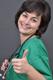 Doctor atractivo de la señora imágenes de archivo libres de regalías