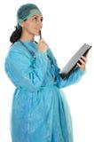 Doctor atractivo de la señora imagen de archivo