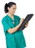 Doctor atractivo de la señora Fotos de archivo