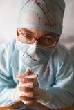 doctor att be Royaltyfri Fotografi