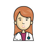 Doctor avatar character icon Stock Image