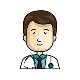 Doctor avatar character icon Stock Photography