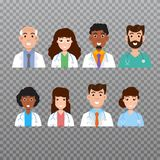 Doctor avatar icon, Medical staff icons. Vector illustration. Doctor avatar, Medical staff icons. Vector illustration vector illustration