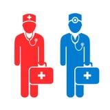 Doctor avatar vector icon Royalty Free Stock Photo