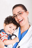 Doctor and baby Stock Photos