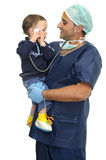 Doctor and baby Stock Photography
