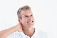 A Doctor with a bad headache Stock Image