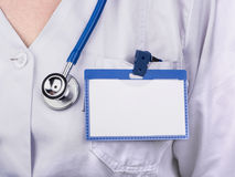 Doctor with badge Royalty Free Stock Photo