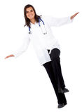 Doctor balancing Royalty Free Stock Photo