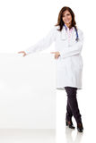 Doctor with a banner Royalty Free Stock Photo