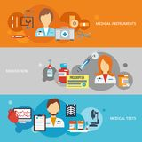 Doctor Banner Set Royalty Free Stock Photos