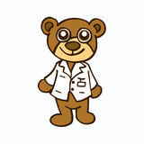 Doctor Bear character design for kids Royalty Free Stock Photo