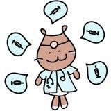 Doctor Bear Illustration Medical Occupation. Cute Doctor Bear Illustration Medical Occupation Stock Photography