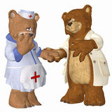 Doctor bear and Nurse Bear Stock Photography