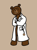 Doctor bear with stethoscope. Doctor brown bear with stethoscope Stock Photos