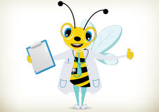 Doctor Bee. Illustration of funny doctor bee Stock Photo