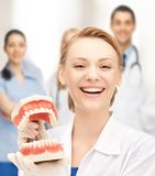 Doctor with big jaws Stock Images