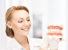 Doctor with big jaws Royalty Free Stock Images