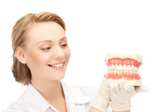 Doctor with big jaws Stock Image