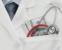 Doctor bills Stock Photography