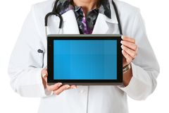 Doctor: Doctor With Blank Digital Tablet royalty free stock photography