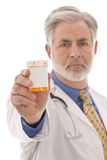 Doctor With Blank-Labeled Medication Royalty Free Stock Images