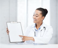 Doctor with blank prescription Stock Image