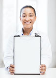 Doctor with blank prescription Stock Photo
