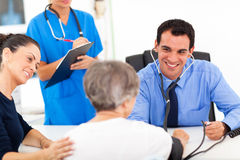 Doctor blood pressure Stock Photography