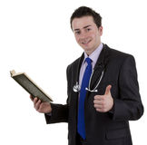 Doctor with book Royalty Free Stock Photography