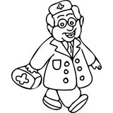 Doctor book kids coloring page Stock Images