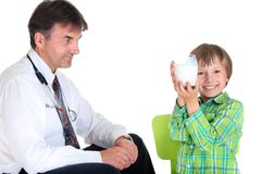 Doctor and Boy Stock Photos