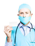 Doctor with business card Royalty Free Stock Photo