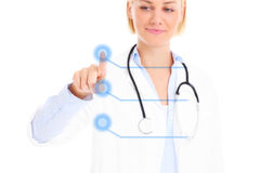 Doctor and buttons Royalty Free Stock Photography