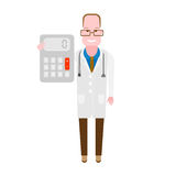 Doctor with a calculator Stock Images