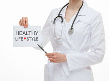 Doctor calling to healthy lifestyle Royalty Free Stock Photo
